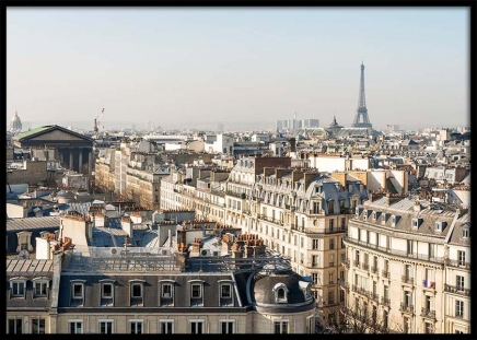 Rooftop View in Paris Poster