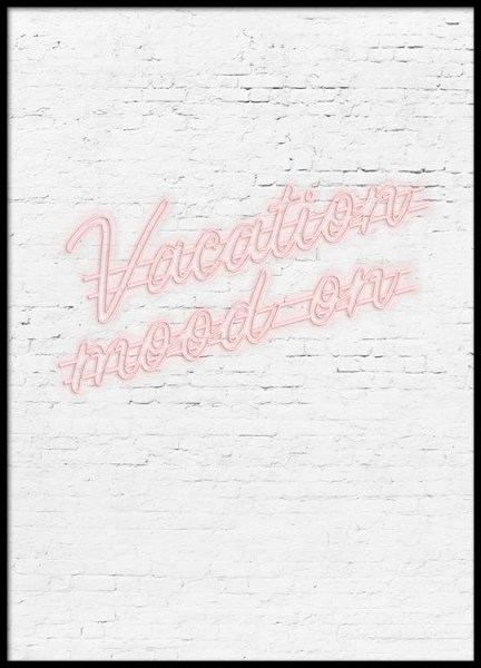 Vacation Mood Poster i gruppen Posters  / Storlekar / 30x40cm hos Desenio AB (2477)