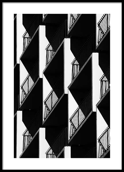 Graphic Balconies Poster i gruppen Posters  / Fotokonst hos Desenio AB (2550)