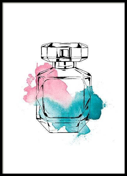 Perfume Color Three Poster i gruppen Posters  / Fashion  hos Desenio AB (2586)