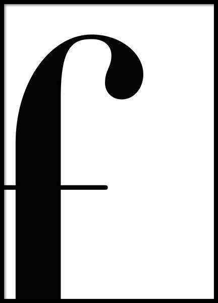 Letter F Poster