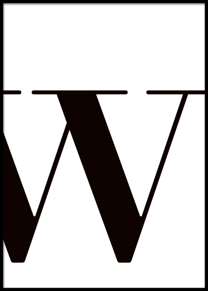 Letter W Poster