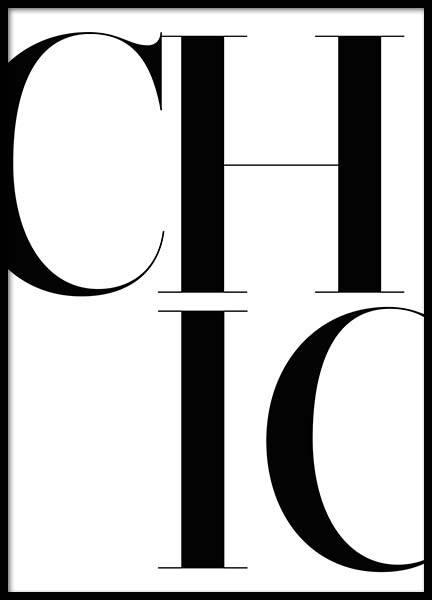 Chic Poster i gruppen Posters  / Fashion  hos Desenio AB (2661)