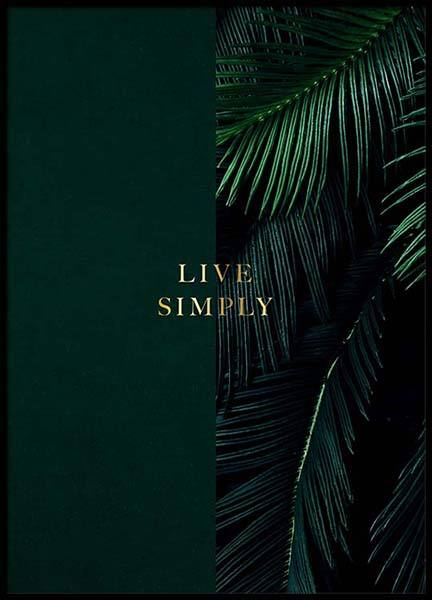 Green Live Simply Poster i gruppen Posters  / Texttavlor hos Desenio AB (2849)