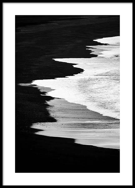 Beach B&W Poster