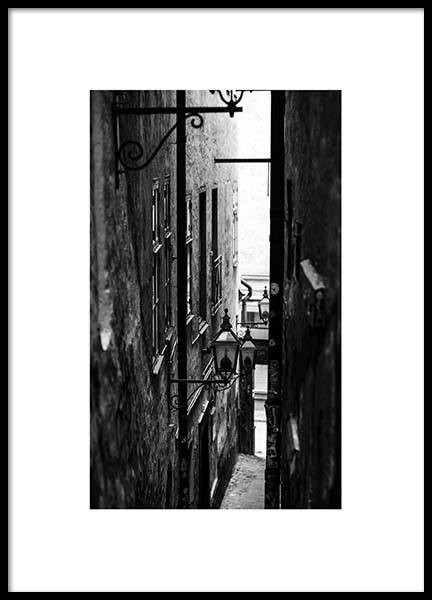 Stockholm Alley Poster i gruppen Studio Collections hos Desenio AB (2872)