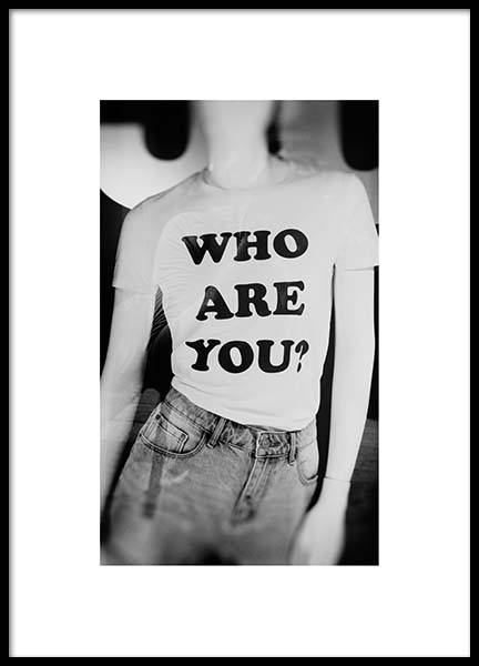 Who Are U Poster i gruppen Posters  / Fotokonst hos Desenio AB (2961)