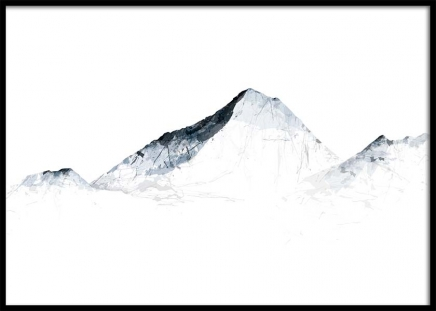 Grey Mountains Everest Poster i gruppen Posters  / Illustrationer hos Desenio AB (2990)