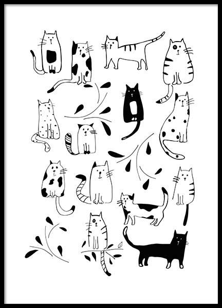 Cats Poster i gruppen Posters  / Barntavlor hos Desenio AB (3117)