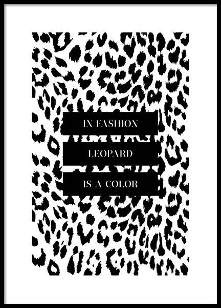In Fashion Leopard Is A Color Poster i gruppen Posters  / Texttavlor hos Desenio AB (3180)