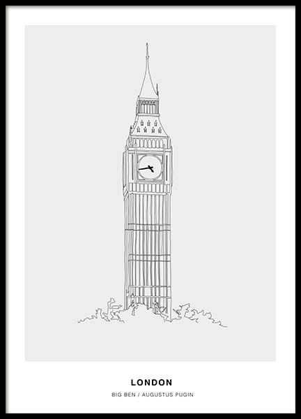 Architecture London Poster i gruppen Posters  / Illustrationer hos Desenio AB (3199)