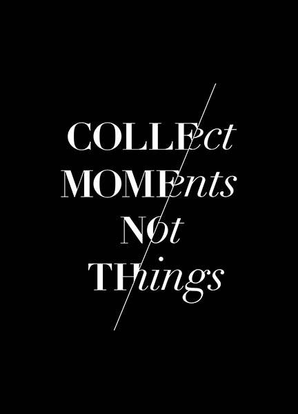 Collect Moments Poster i gruppen Posters  / Storlekar / 30x40cm hos Desenio AB (3404)