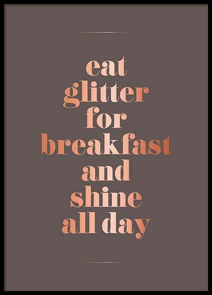 Eat Glitter Poster