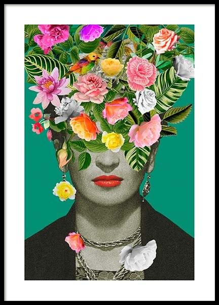 Frida Floral 1 Poster