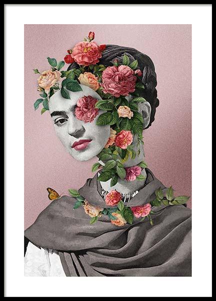 Frida Floral 2 Poster