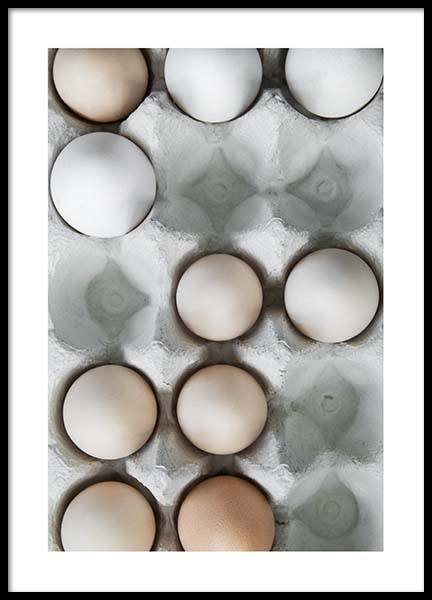 Eggs in a box no2 Poster i gruppen Posters  / Storlekar / 50x70cm hos Desenio AB (3493)