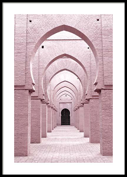 Pink Arches Poster i gruppen Posters  / Fotokonst hos Desenio AB (3555)