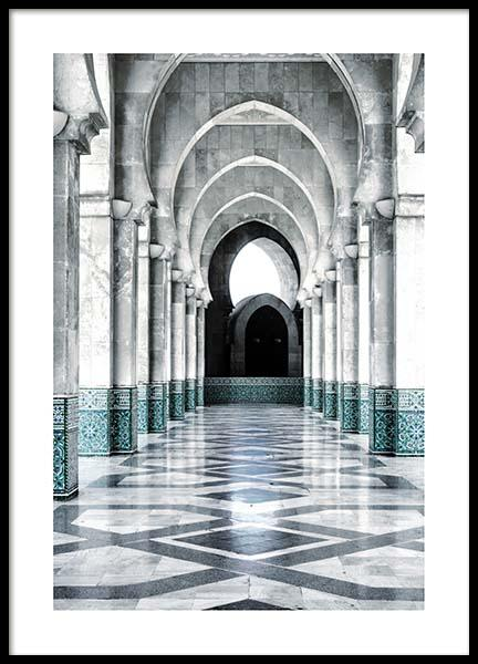 Morocco Arch Poster i gruppen Posters  / Storlekar / 50x70cm hos Desenio AB (3559)