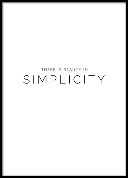 Beauty In Simplicity Poster i gruppen Posters  / Storlekar / 30x40cm hos Desenio AB (3608)