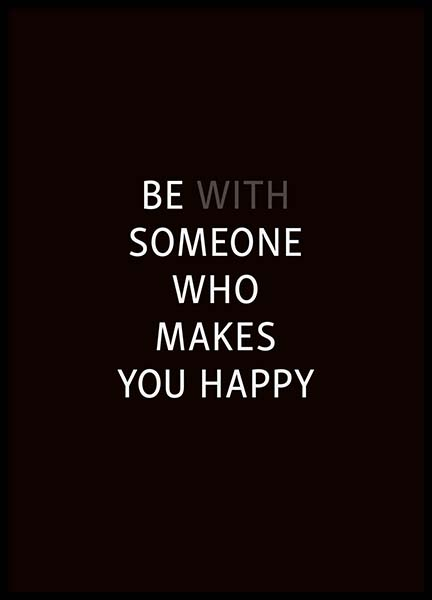 Who makes you happy Poster i gruppen Posters  / Storlekar / 30x40cm hos Desenio AB (3622)