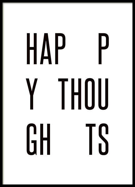 Happy Thoughts Poster i gruppen Posters  / Storlekar / 30x40cm hos Desenio AB (3664)