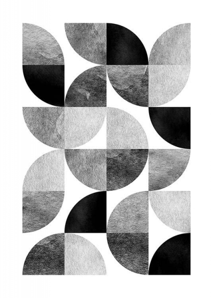 Circle Pattern No 1 Poster i gruppen Posters  / Storlekar / 50x70cm hos Desenio AB (3698)