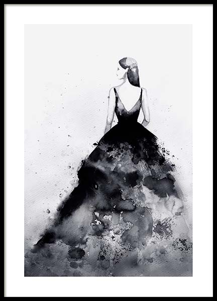Dramatic Couture Poster i gruppen Posters  / Illustrationer hos Desenio AB (3899)