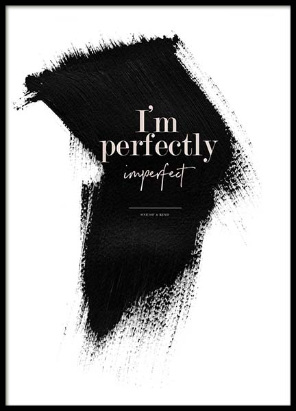 Perfectly Imperfect Poster i gruppen Posters  / Texttavlor hos Desenio AB (3938)