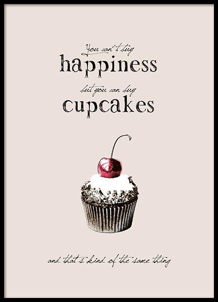 K?kstavla, Posters med cupcakes