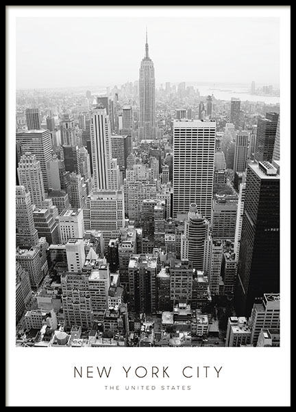 poster med new york tavla med svartvitt fotografi. Black Bedroom Furniture Sets. Home Design Ideas