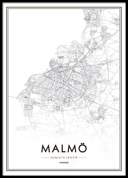 malmö karta tavla Tavla, poster med Malmökarta. Handla Malmö poster online på Desenio malmö karta tavla