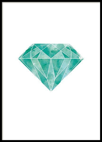 Planscher och prints med grafisk diamant på nätet