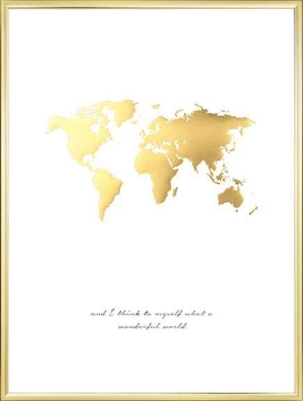 Wonderful World Guld Poster