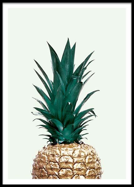 Green Pineapple Poster