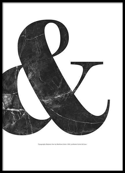 affisch med typografi svart marmor desenio. Black Bedroom Furniture Sets. Home Design Ideas