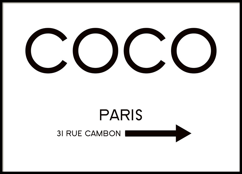 Rue Cambon Poster i gruppen Posters  / Fashion  hos Desenio AB (8434)