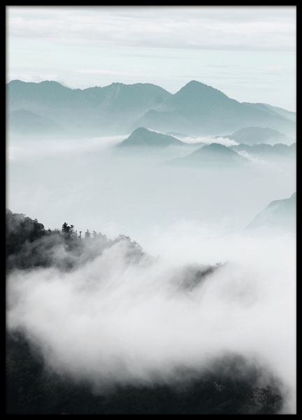 Cloud Mountains Poster