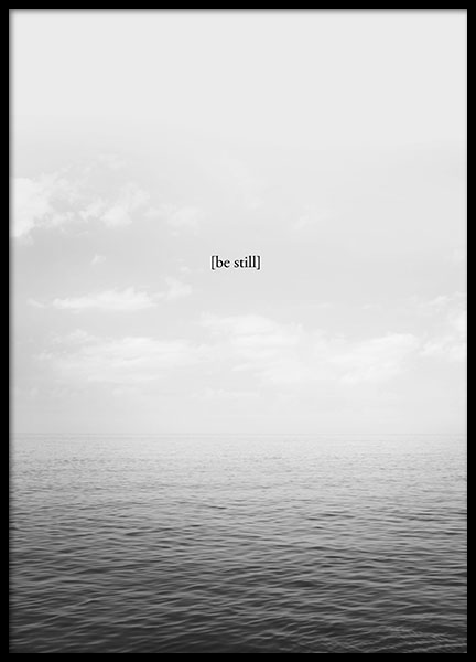 Be Still Poster i gruppen Posters  / Mindfulness hos Desenio AB (8552)
