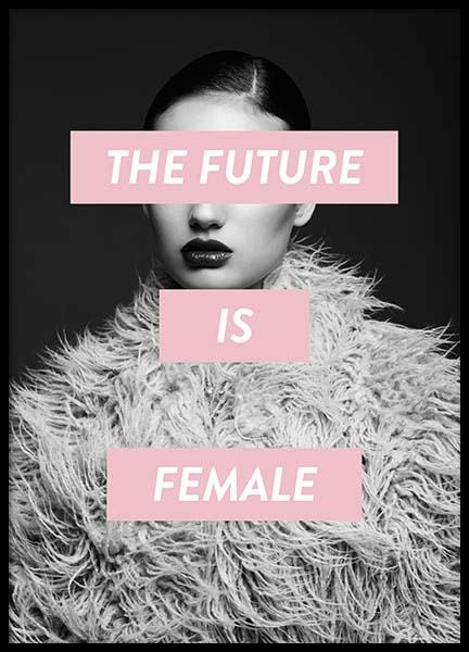 Future Is Female Poster i gruppen Posters  / Fashion  hos Desenio AB (8834)