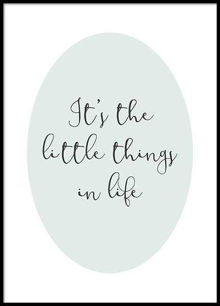 The Little Things Poster i gruppen Posters  / Texttavlor hos Desenio AB (8868)