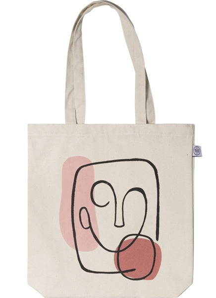Abstract Face Tote Bag i gruppen Limited edition hos Desenio AB (TOTE50145)