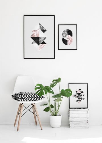 Snygga posters och tavlor i kollage grafiska affischer for Interior design inspiration australia