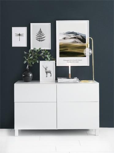 Posters och prints med natur till tavelvägg i vardagsrum