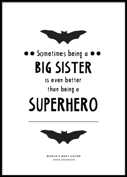 Big Sister Personal Poster i gruppen Posters  / Personliga posters hos Desenio AB (pp0004)