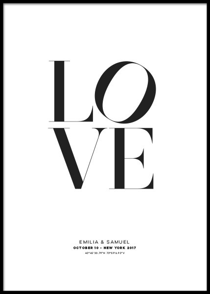 Love Personal Poster i gruppen Posters  / Personliga posters hos Desenio AB (pp0010)