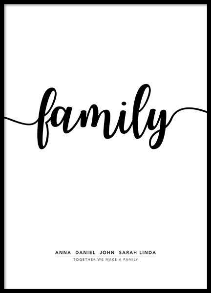 Family Personal Poster i gruppen Posters  / Personliga posters hos Desenio AB (pp0020)
