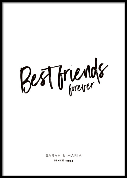 Best Friends Forever Personal Poster i gruppen Posters / Personliga posters hos Desenio AB (pp0056)