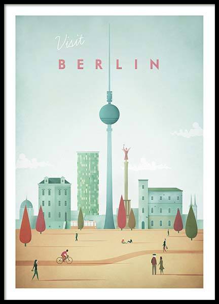Berlin Travel Poster i gruppen Posters  / Handpicked / Henry Rivers hos Desenio AB (pre0007)
