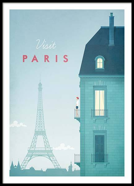 Paris Travel Poster i gruppen Posters  / Handpicked / Henry Rivers hos Desenio AB (pre0013)