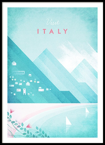 Visit Italy Poster i gruppen Posters  / Handpicked / Henry Rivers hos Desenio AB (pre0042)